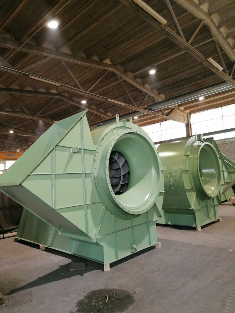 Industriële ventilatoren voor vezeldroging